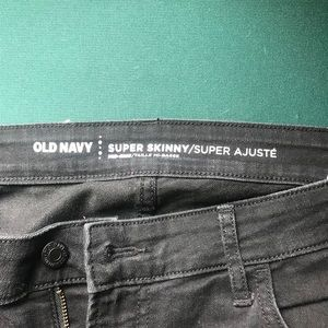 Old Navy skinny black jeans tall